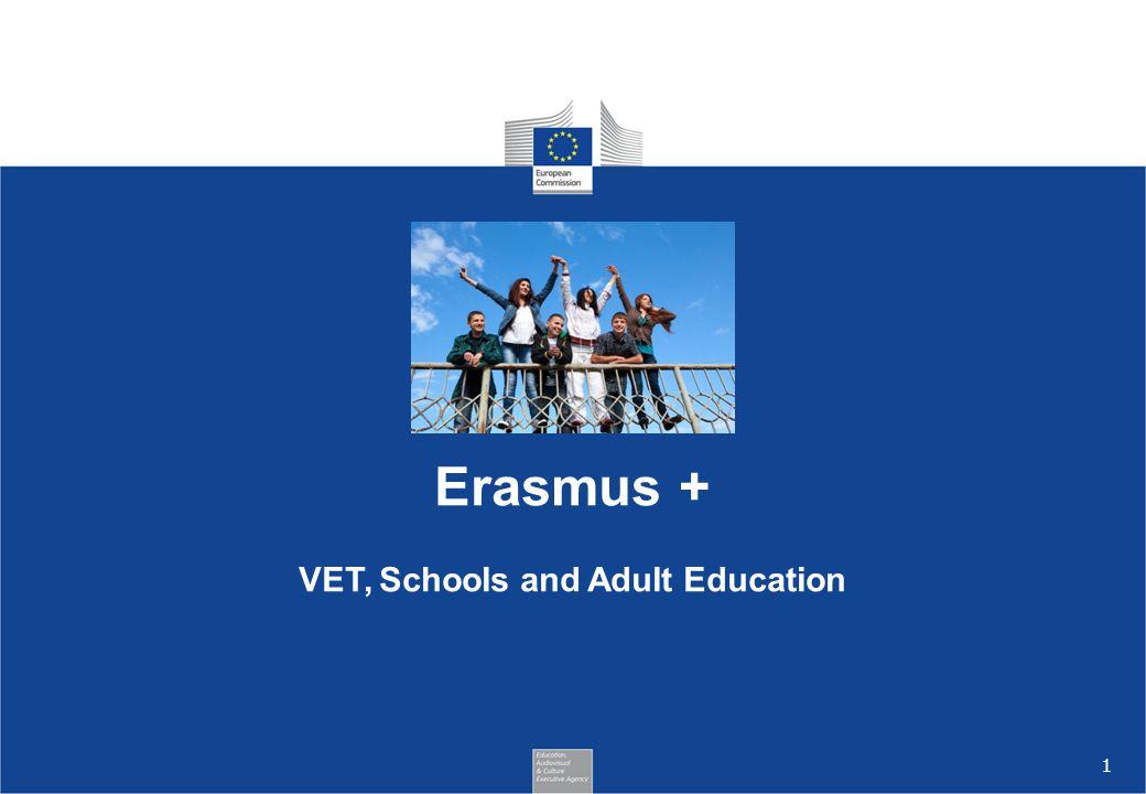 Erasmus + VET, Schools and Adult Education.